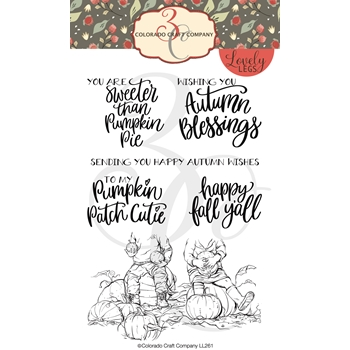 Colorado Craft Company Lovely Legs PUMPKIN CUTIE Clear Stamps LL261