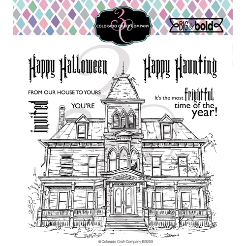 Colorado Craft Company Big and Bold HAUNTED HOUSE Clear Stamps BB259 Preview Image