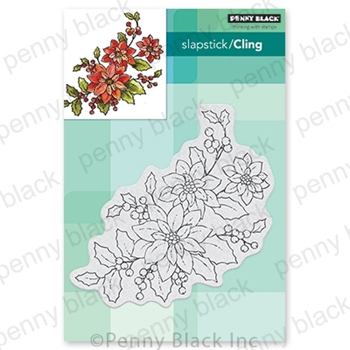 Penny Black Cling Stamp POINSETTIA POEM 40-700