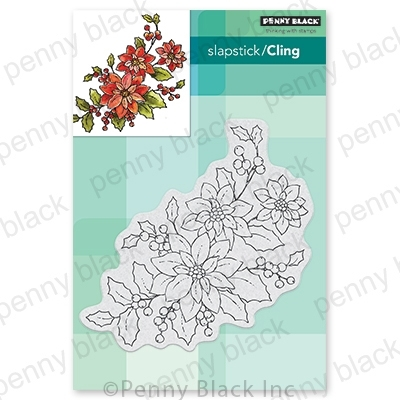 Penny Black Cling Stamp POINSETTIA POEM 40-700 zoom image