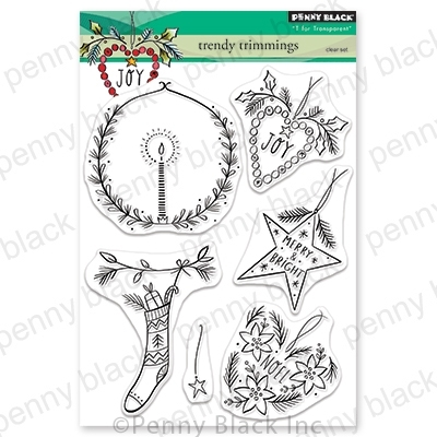 Penny Black Clear Stamps TRENDY TRIMMINGS 30-628 zoom image