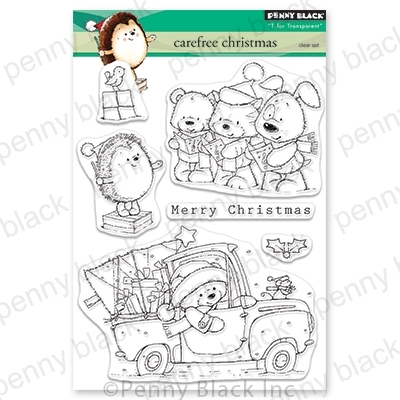 Penny Black Clear Stamps CAREFREE CHRISTMAS 30-625 Preview Image