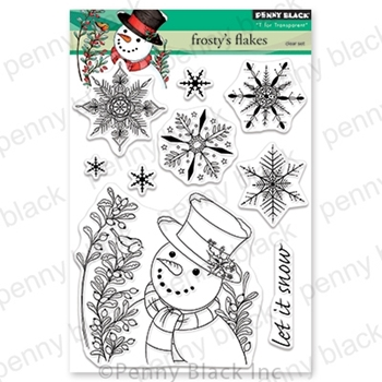 Penny Black Clear Stamps FROSTY'S FLAKES 30-624
