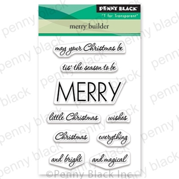 Penny Black Clear Stamps MERRY BUILDER 30-619