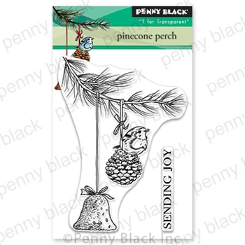 Penny Black Clear Stamps PINECONE PERCH 30-617