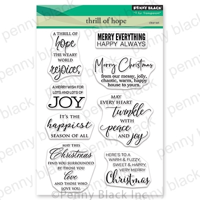 Penny Black Clear Stamps THRILL OF HOPE 30-616 zoom image