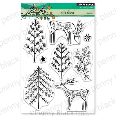 Penny Black Clear Stamps OH DEER 30-611 zoom image