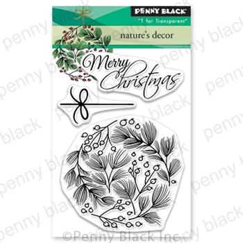 Penny Black Clear Stamps NATURE'S DECOR 30-608