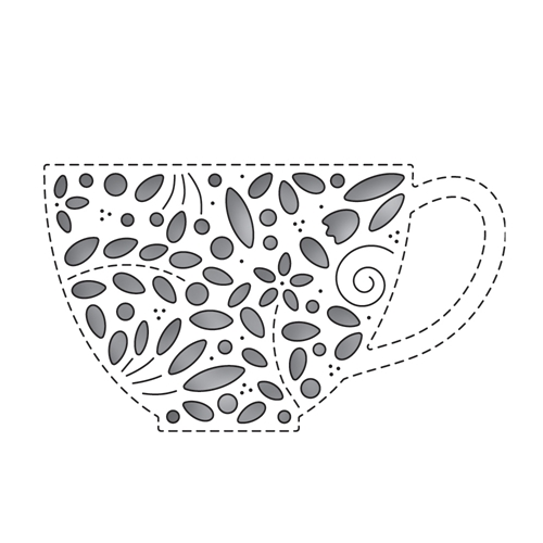 Simon Says Stamp FILIGREE TEACUP Wafer Die s651 Preview Image