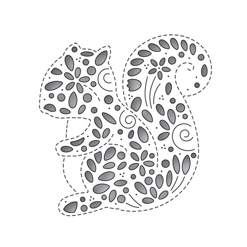 Simon Says Stamp FILIGREE SQUIRREL Wafer Die s652 Preview Image
