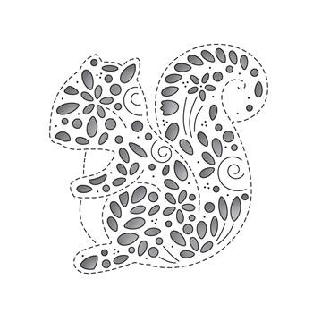 Simon Says Stamp FILIGREE SQUIRREL Wafer Die s652