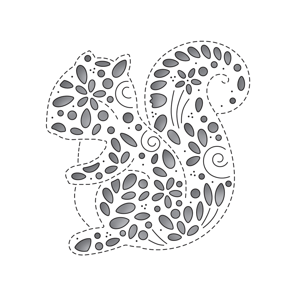 Simon Says Stamp FILIGREE SQUIRREL Wafer Die s652 zoom image