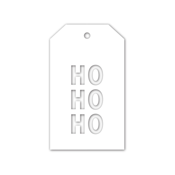 CZ Design Wafer Dies HO HO HO TAG czd69