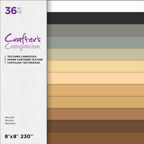 Crafter's Companion NEUTRALS 8 x 8 Textured Cardstock cc-pad8-tex-neu Preview Image