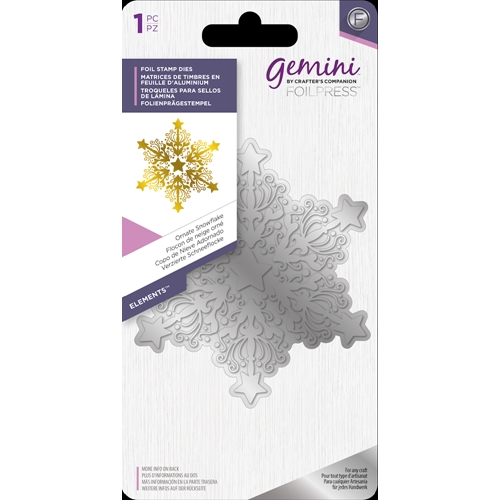 Crafter's Companion ORNATE SNOWFLAKES Gemini Foil Stamp Die gem-fs-ele-osno Preview Image