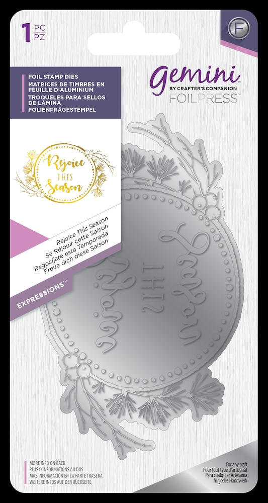Crafter's Companion REJOICE THIS SEASON Gemini Foil Stamp Die gem-fs-exp-rtse zoom image