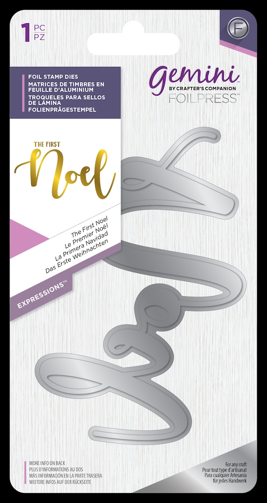 Crafter's Companion THE FIRST NOEL Gemini Foil Stamp Die gem-fs-exp-tfno zoom image