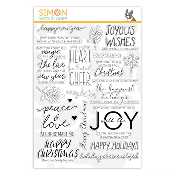 Simon Says Clear Stamps INSIDE CHRISTMAS GREETINGS sss202028