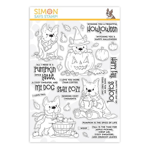 Simon Says Clear Stamps FALL Puppies Frenchies sss201990 Preview Image