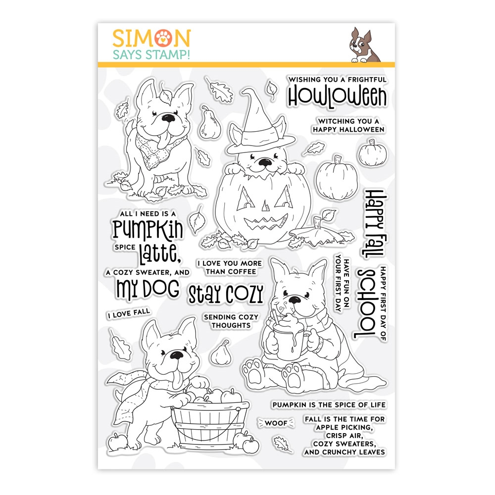 Simon Says Clear Stamps FALL Puppies Frenchies sss201990 zoom image