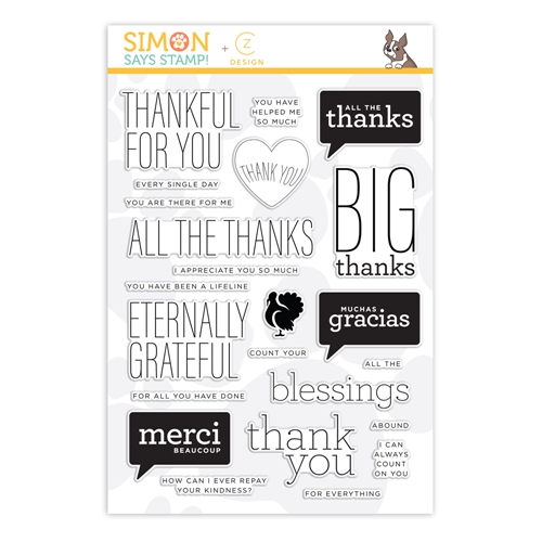 CZ Design Clear Stamps ALL THE THANKS cz40 Preview Image