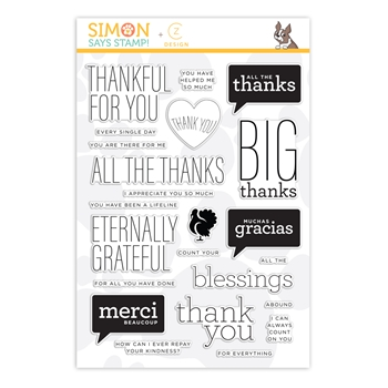 CZ Design Clear Stamps ALL THE THANKS cz40 STAMPtember 2019