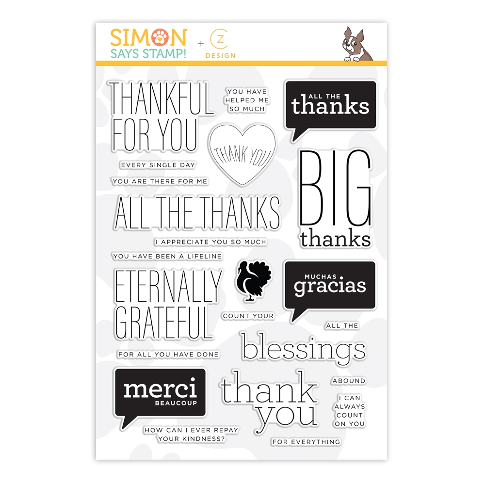 CZ Design Clear Stamps ALL THE THANKS cz40 zoom image