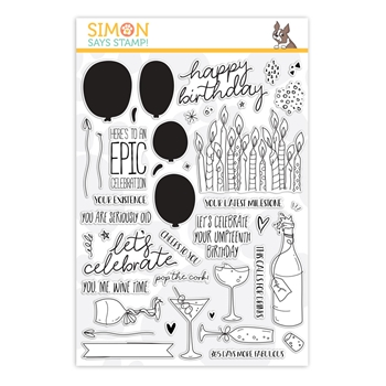 Simon Says Clear Stamps CELEBRATE YOU sss202027 *
