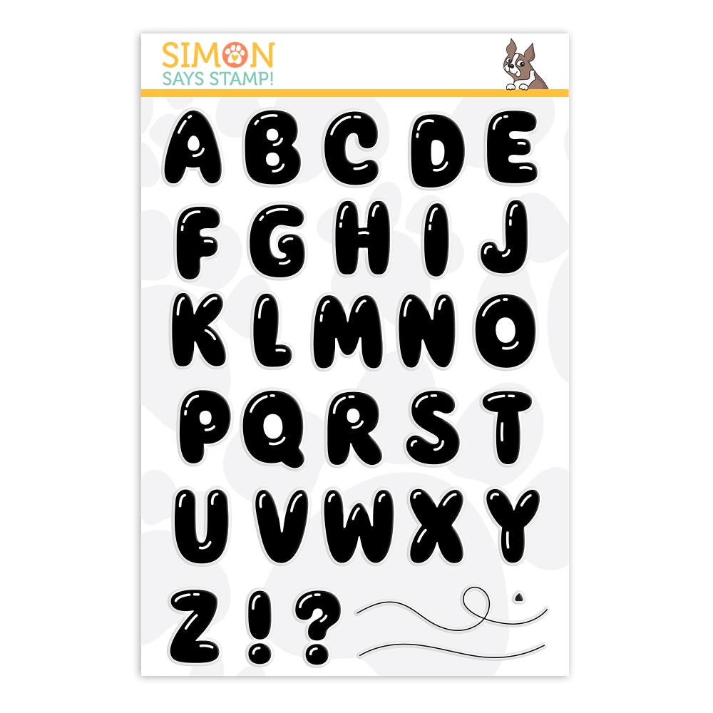 Simon Says Clear Stamps BALLOON LETTERS sss202021 zoom image