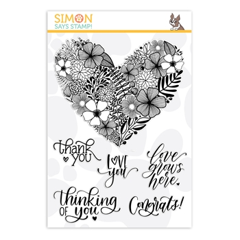 Simon Says Clear Stamps FLORAL HEART sss202032 STAMPtember 2019