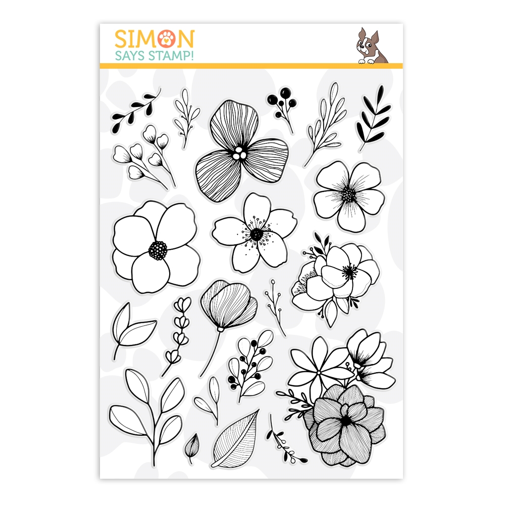 Simon Says Clear Stamps FABULOUS FLORALS sss202071 zoom image