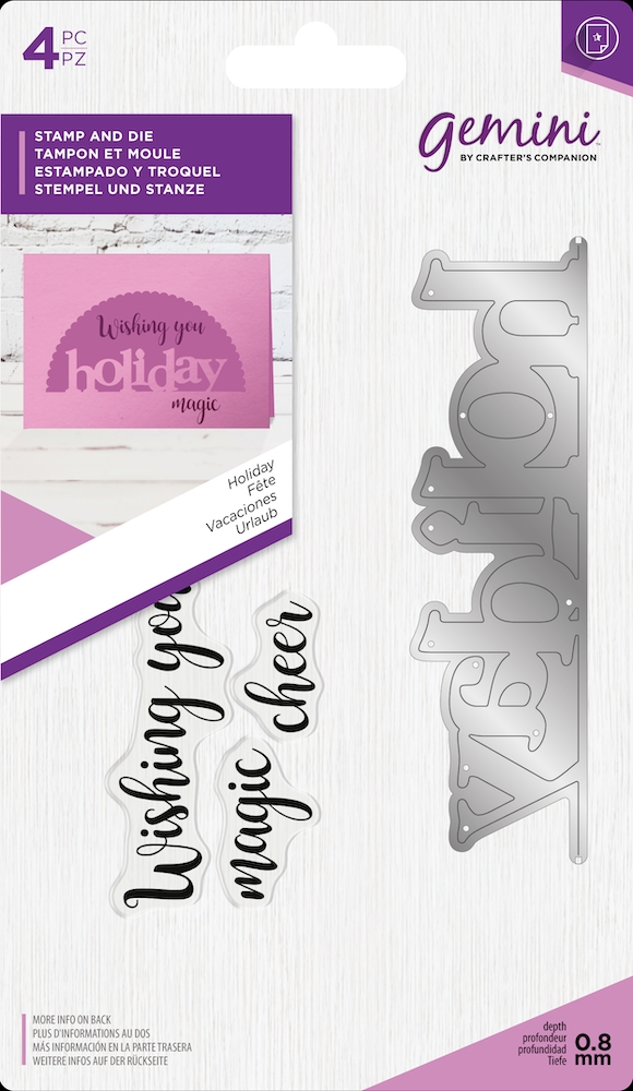 Crafter's Companion HOLIDAY Gemini Edgeable Stamp And Die Set gem-std-hoa zoom image