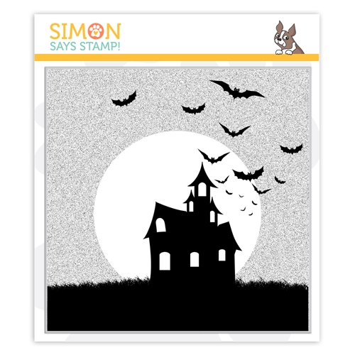 Simon Says Cling Stamp SPOOKY SILHOUETTE BACKGROUND sss102007 Preview Image