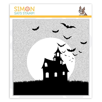 Simon Says Cling Stamp SPOOKY SILHOUETTE BACKGROUND sss102007 STAMPtember 2019
