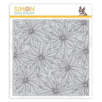 Simon Says Cling Stamp POINSETTIA BACKGROUND sss102022
