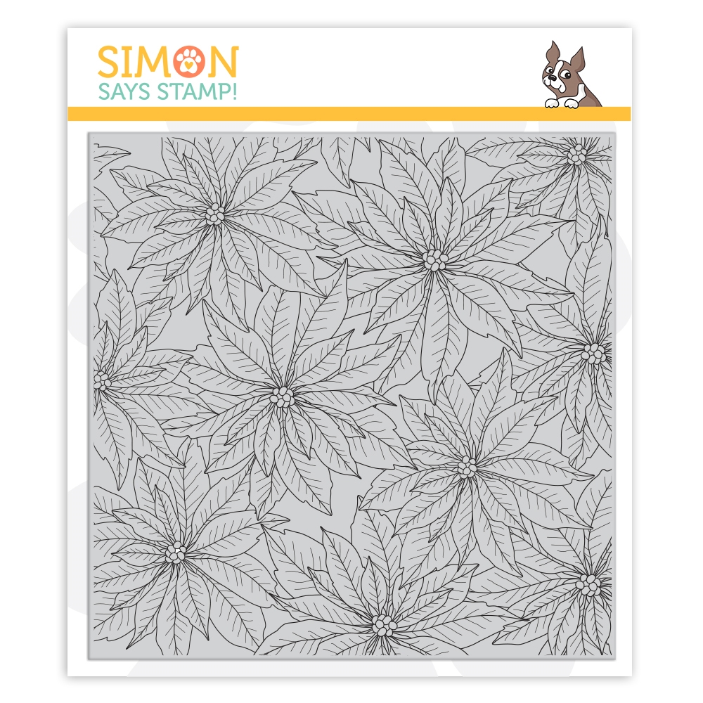 Simon Says Cling Stamp POINSETTIA BACKGROUND sss102022 STAMPtember 2019 zoom image