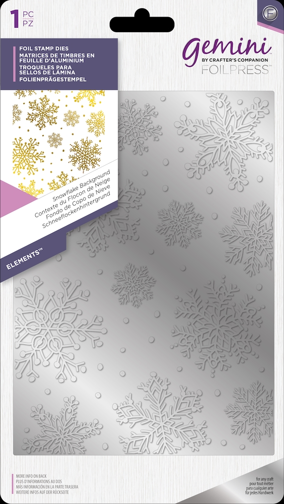 Crafter's Companion SNOWFLAKE BACKGROUND Gemini Foil Stamp Die gem-fs-ele-snba zoom image