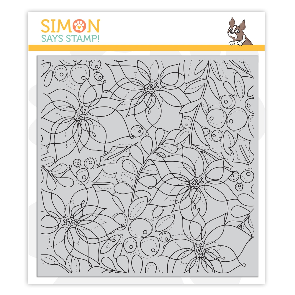 Simon Says Stamptember Winter Floral Mix Background Cling Stamp