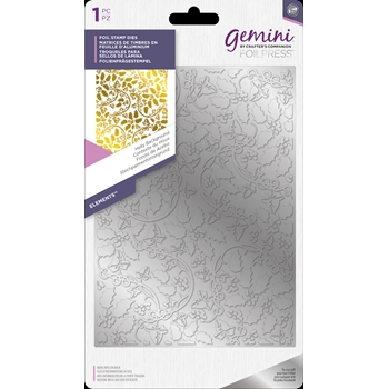 Crafter's Companion HOLLY BACKGROUND Gemini Foil Stamp Die gem-fs-ele-hoba