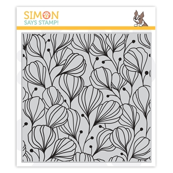 Simon Says Cling Stamp FLORA BACKGROUND sss102033