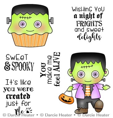 Darcie's SWEET AND SPOOKY Clear Stamp Set pol446 Preview Image