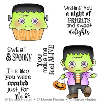 Darcie's SWEET AND SPOOKY Clear Stamp Set pol446