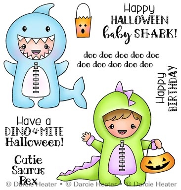 Darcie's SHARK BABY Clear Stamp Set pol447 Preview Image
