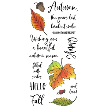 Inky Antics AUTUMN LEAVES Clear Stamp Set 11467lc