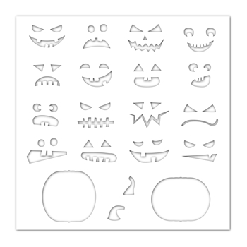 Simon Says Stamp Stencil JACK O'LANTERNS ssst121448