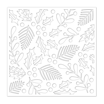 Simon Says Stamp Stencil HOLIDAY FOLIAGE ssst121452