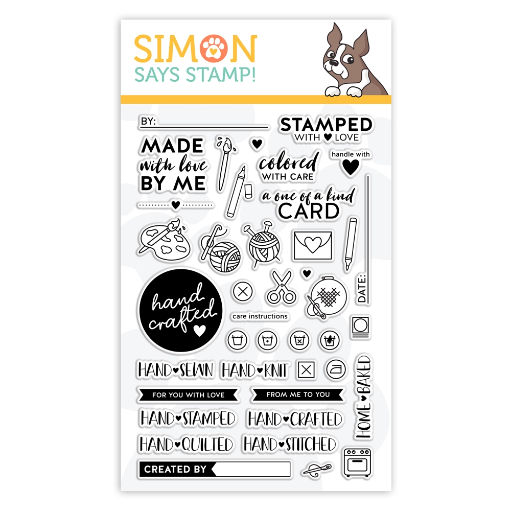 Simon Says Clear Stamps HAND CRAFTED WITH LOVE sss102029 zoom image