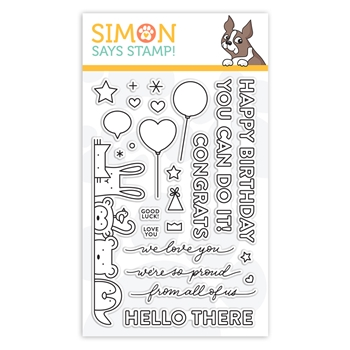 Simon Says Clear Stamps CRITTER CROWD sss102009