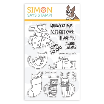 Simon Says Clear Stamps MEOWY CATMAS sss102026 STAMPtember 2019
