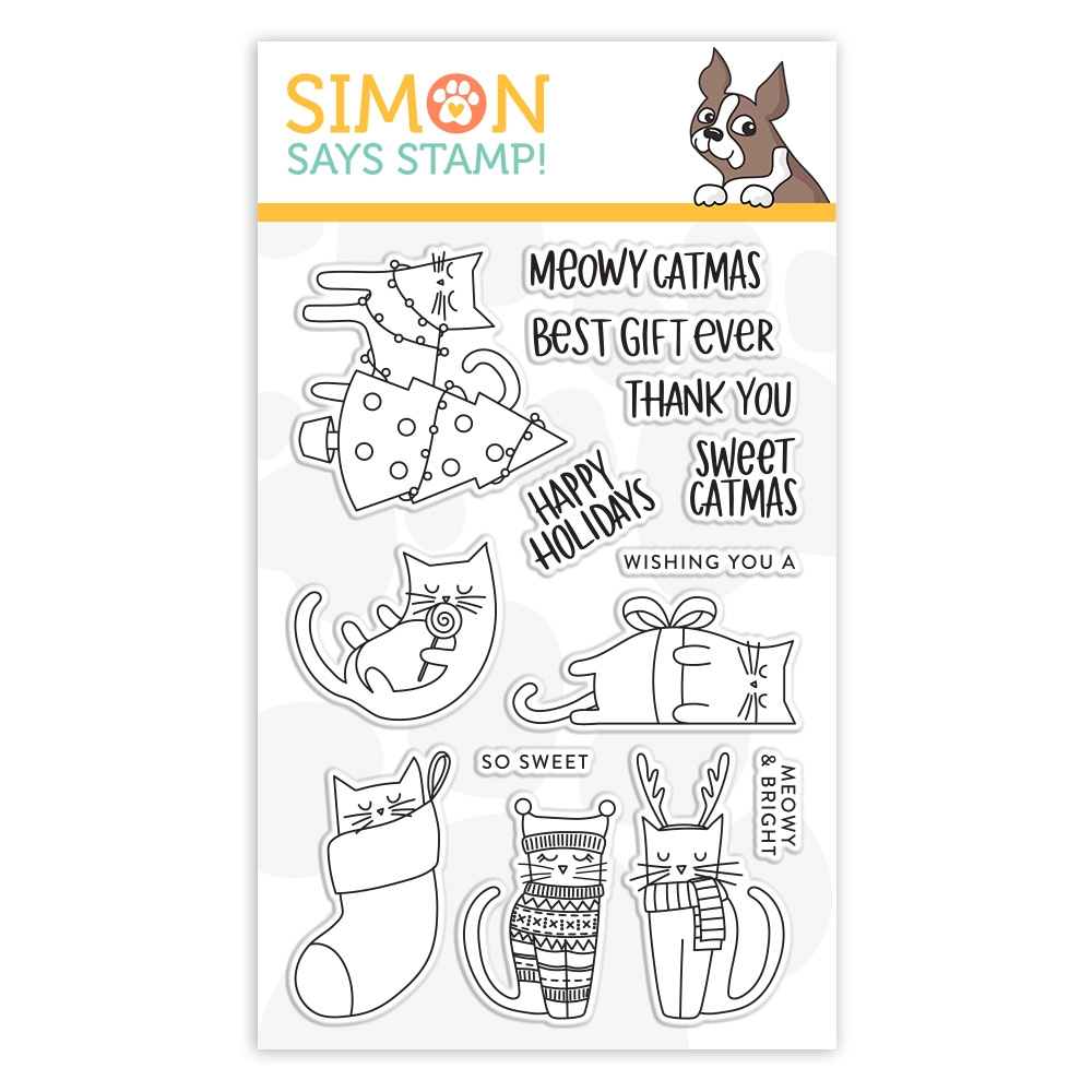 Simon Says Clear Stamps MEOWY CATMAS sss102026 zoom image